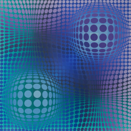 Victor Vasarely-Hommage a Picasso-1974