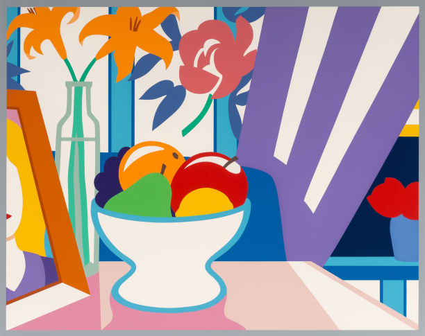Tom Wesselmann-Still Life with Lilies and Mixed Fruit-1998