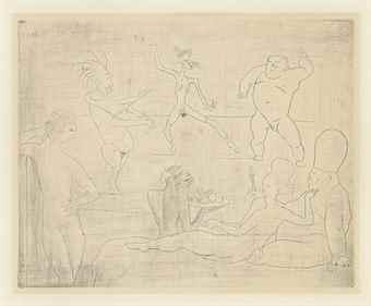 Pablo Picasso-La Danse Barbare, from La Suite des Saltimbanques-1905