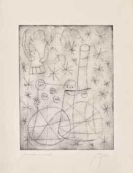 Joan Miro-Two plates, from Noel au Chemin de Fer-1959