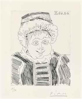 Pablo Picasso-La Servante (des deux Precedents), from Series 347-1968