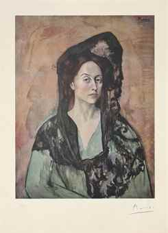 Pablo Picasso-After Pablo Picasso - Madame Ricardo Canals, from Barcelona Suite-1966