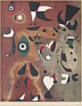 Joan Miro-After Joan Miro, Femmes, Oiseaux and Etoile-1960