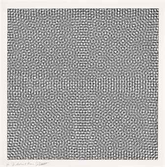 Sol LeWitt-Untitled, from Arcs, Circles and Grid Series-1973
