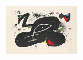 Joan Miro-Paysanne Endormie-1981