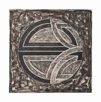 Frank Stella-Sinjerli Variation Squared with Black Ground-1981