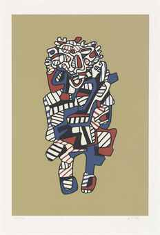 Jean Dubuffet-Celebrator, from Presences fugaces-1973