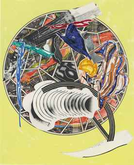 Frank Stella-Whale as a dish, from Waves II-1989