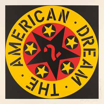 Robert Indiana-The American Dream No. 2-1982