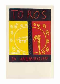 Pablo Picasso-Toros en Vallauris 1955-1955