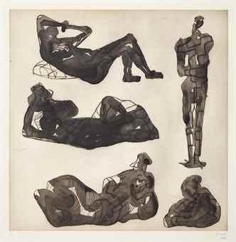 Henry Moore-Five sculptural ideas-1980
