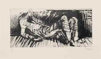 Henry Moore-(i) Reclining Figure III; (ii) Eight Draped reclining Figures; (iii) Three Sculptural Objects-1972