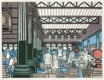 Edward Bawden-Billingsgate, from Six London Markets-1967