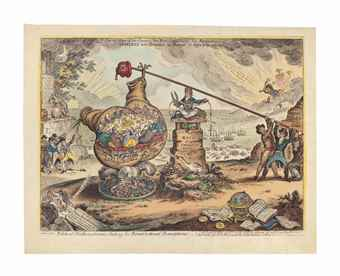 James Gillray-(i) Political Mathematicians, Shaking the broad bottom'd Hemispheres; (ii) Buonaparte, 48 Hours after Landing!; (iii) The Valley of the Shadow of Death; (iv) Discipline a la Kenyon; (v) The Corsican-Pest or Belzibub going to supper; (vi) Spanish-Patriots attacking the French-Banditti; (vii) L'Enfant Trouve, a Sample of Roman Charity!; (viii) the Introduction of the Pope to the Convocation at Oxford by the Cardinal Broad Bottom; (ix) The Republican-Hercules defending his Country-1807