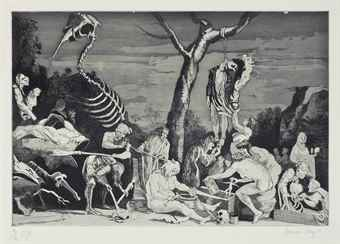 Paula Rego-Witches at their incantations after Salvator Rosa-1991