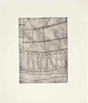 Ben Nicholson-Fragment of Tuscan Cathedral-1966