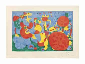 Joan Miro-One plate, from Ubu roi-1966