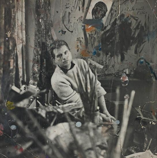 Cecil Beaton-Francis Bacon In His Studio-1960