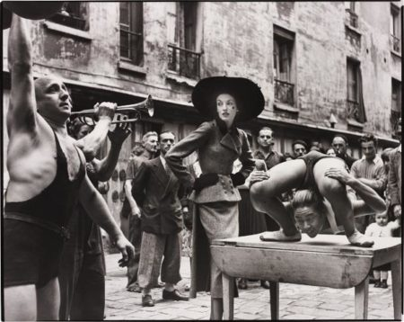 Richard Avedon-Elise Daniels With Street Performers, Suit By Balenciaga, Le Marais, Paris, August-1948
