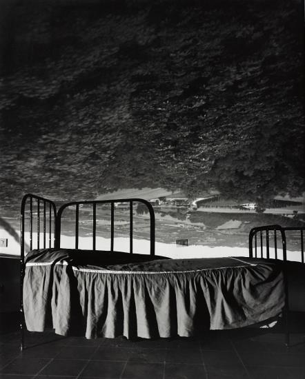 Abelardo Morell-Camera Obscura Image Of Umbrian Landscape Over Bed-2000