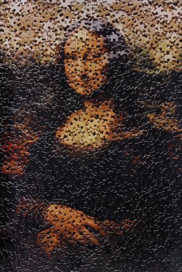 Vik Muniz-Mona Lisa, After Leonardo Da Vinci From Gordian Puzzles-2009