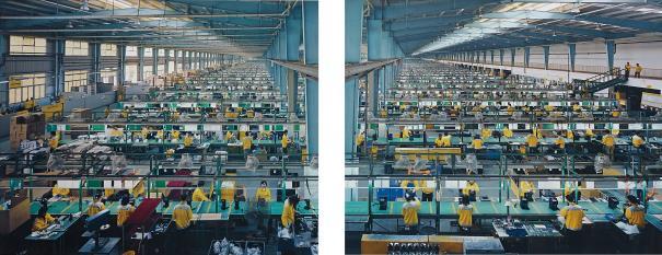Edward Burtynsky-Manufacturing #10A & #10B, Cankun Factory, Xiamen City, China-2005