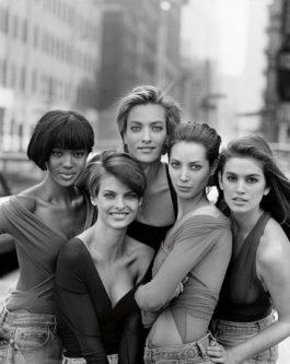Peter Lindbergh-Naomi Campbell, Linda Evangelista, Tatjana Patitz, Christy Turlington And Cindy Crawford, New York-1989