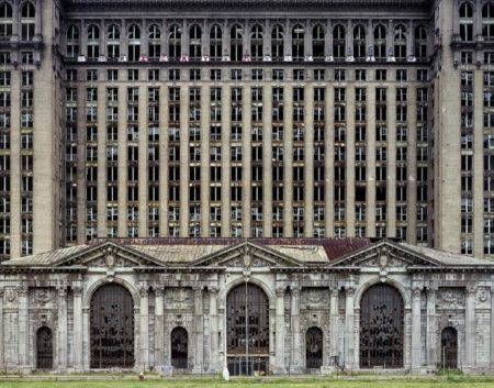 Yves Marchand and Romain Meffre-Facade, Michigan Central Station, Detroit, Usa From The Ruins Of Detroit-2007