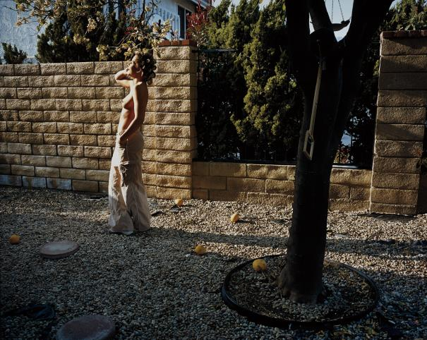Larry Sultan-Woman In Garden, Mission Hills From The Valley-1999
