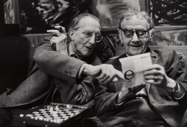 Henri Cartier-Bresson-Marcel Duchamp And Man Ray, Paris-1968