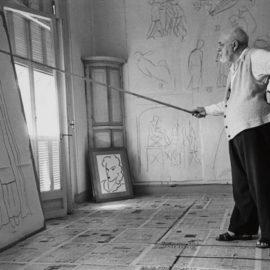 Robert Capa-Henri Matisse, Vence-1949