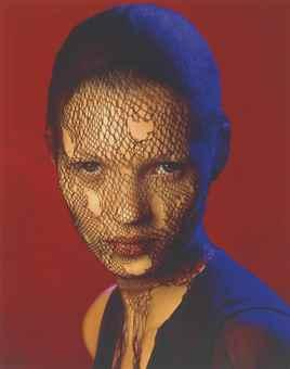Albert Watson-Kate Moss in Torn Veil, Marrakech-1993