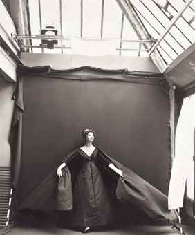 Richard Avedon-Suzy Parker, Evening Dress by Dior, Paris Studio, August 1956-1956