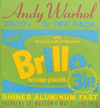 Andy Warhol-Brillo Soap Pads - Pasadena Art Museum Poster-1970