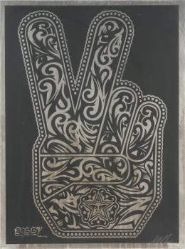 Shepard Fairey-Peace Fingers-2006