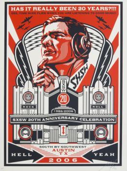 Shepard Fairey-Sxsw Radio 20 Year Anniversary-2006