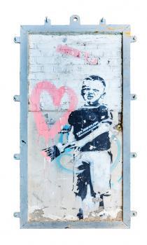 Banksy-Heart Boy-2009