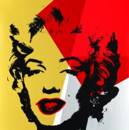 Andy Warhol-After Andy Warhol - Sunday B - Golden Marilyn