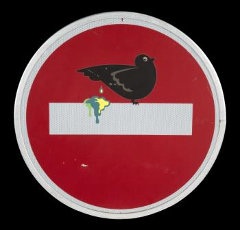 Clet Abraham-Do Not Enter Pigeon-2013
