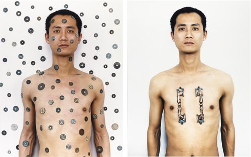 Qiu Zhijie-Tattoo Series No 4-2000