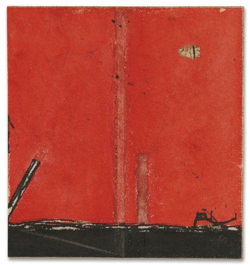 Osvaldo Licini-Ritmo Su Fondo Rosso-1935