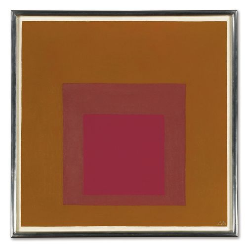 Josef Albers-Study For Homage To The Square. A Rose (A)-1964