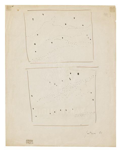 Lucio Fontana-Studi Per Concetto Spaziale-1951