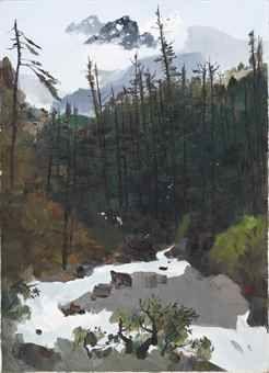 Wu Guanzhong-The Yulong Mountains After Rain-1996