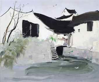 Wu Guanzhong-Homes-1985