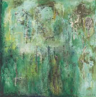 Zao Wou-Ki-Untitled (Vert emeraude)-