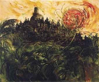 Affandi-Borobudur-1983