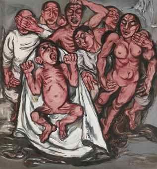 Zeng Fanzhi-Meat No. 3: Nativity-1992