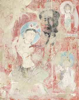 Mao Lizi-Vandalised Fresco-1990