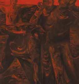 Shen Xiaotong-People Flooded in Red No. 2-1992